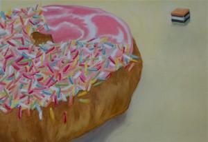 donut  oil on oil sketch 2013